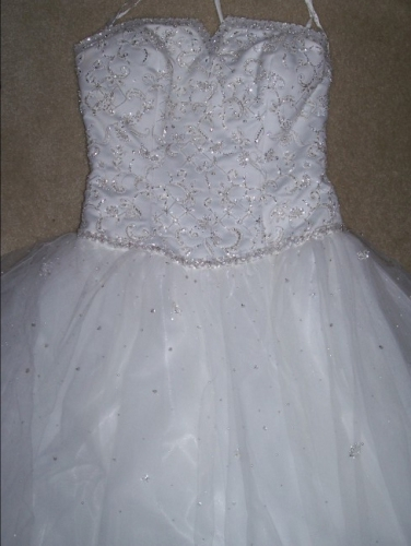 New york mori lee ball gown never worn sizes 10 12 for How to sell wedding dress never worn
