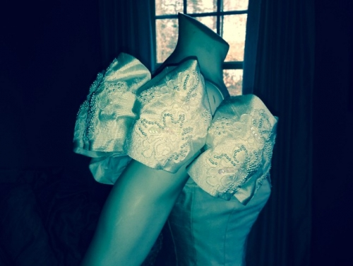 Virginia : Vintage, Couture, Ivory, Raw Silk : Sizes 2