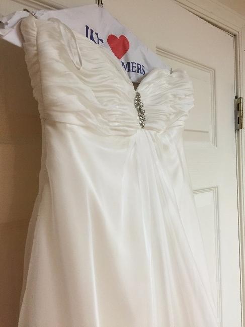 Virginia Ivory Strapless Wedding Dress Sizes 2 4
