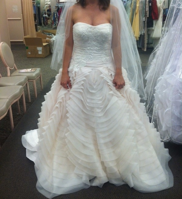 New york beautiful ombre ball gown sizes 10 12 for Sell wedding dress nyc