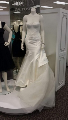 New jersey never worn zac posen mermaid trumph sizes 2 4 for How to sell wedding dress never worn