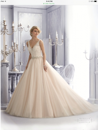 New york mori lee wedding dress style 2684 sizes 10 12 for Sell wedding dress nyc