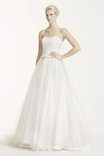Strapless Ruched Tulle ballgown
