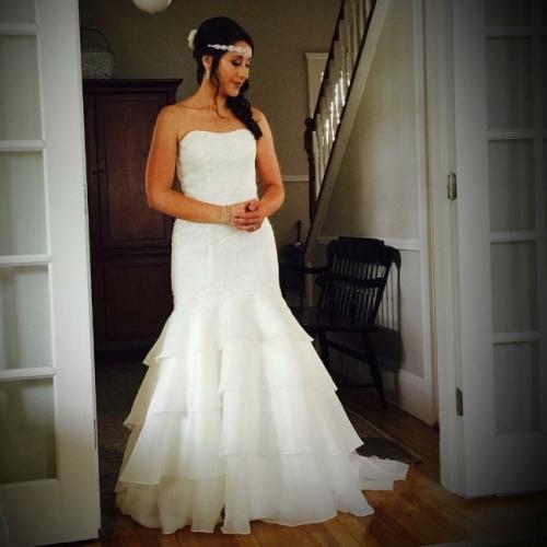 Melissa Sweet Wedding Dresses: Massachusetts : Melissa Sweet Floral Lace Trumpet : Sizes